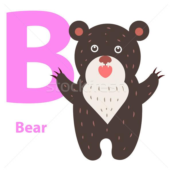 Alphabet for Children B Letter Bear Cartoon Icon Stock photo © robuart