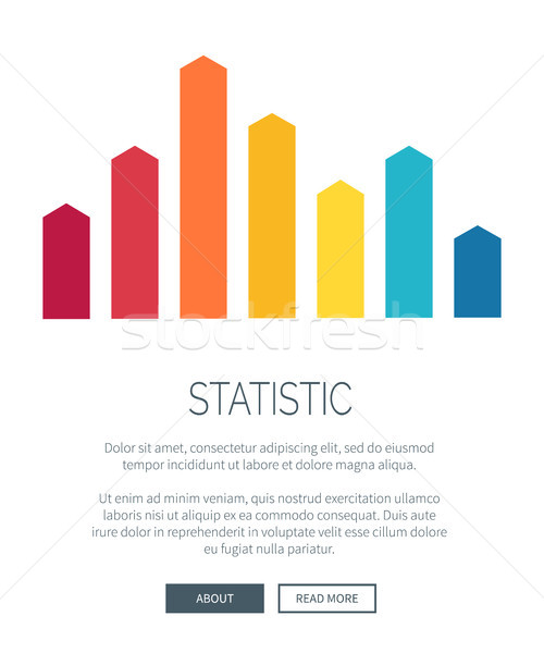 Statistic Representation Design for Web Page Stock photo © robuart