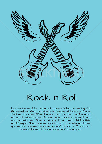 Rock and Roll Music Poster Vector Illustration Stock photo © robuart