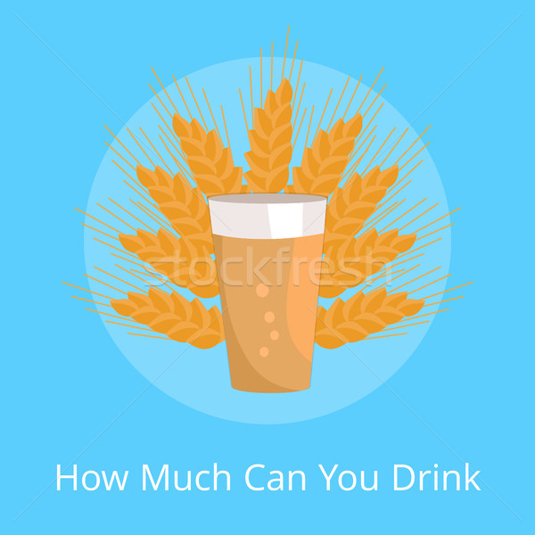 How Much Can You Drink Poster Pint of Dark Beer Stock photo © robuart