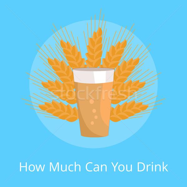 Kan drinken poster pint donkere bier Stockfoto © robuart