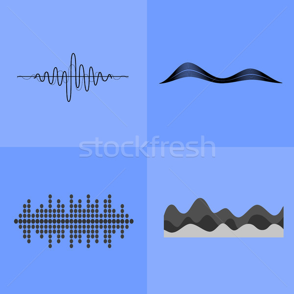 Equalizer Interface Icons Vector Illustration Stock photo © robuart