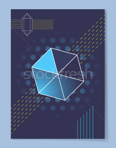 Geometric Figures Wallpaper Vector Illustration Stock photo © robuart