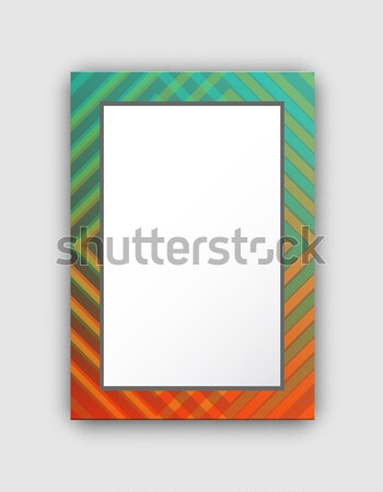 Frame Pattern with Lines of Red and Green Colors Stock photo © robuart