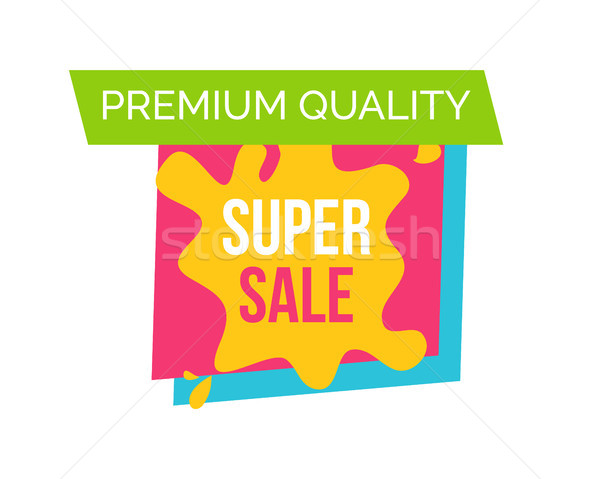 Prémium minőség vásár logo szuper tér Stock fotó © robuart