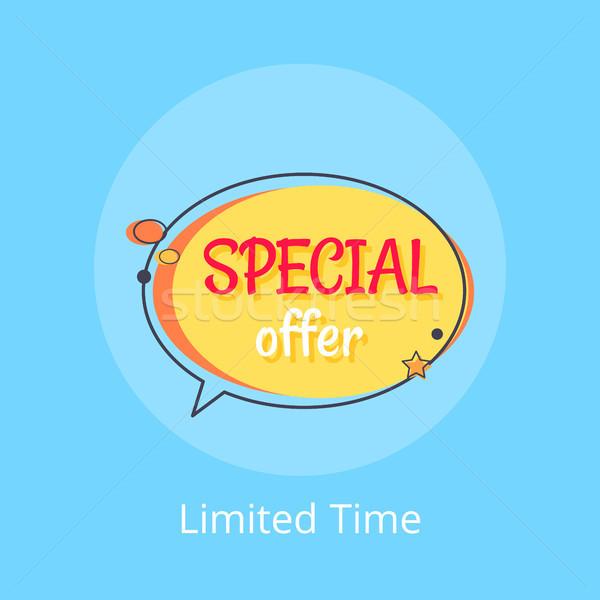 Czasu oferta specjalna sprzedaży ogłoszenie Bańka reklama Zdjęcia stock © robuart