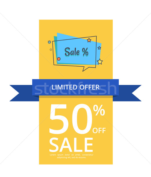 Limited Offer 50 Off Sale with Inscription Vector Stock photo © robuart