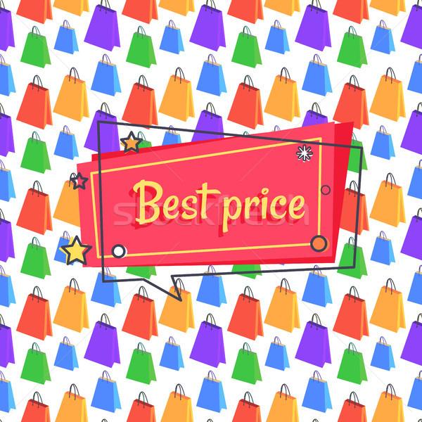 Beste prijs advertentie banner winkelen vierkante Stockfoto © robuart