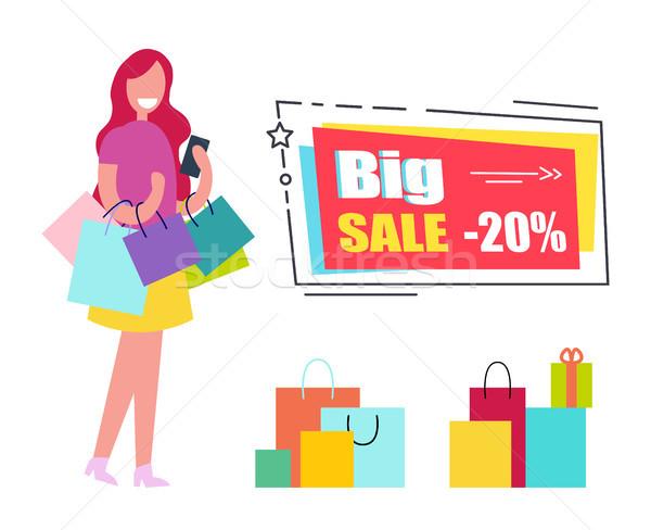 Grande venta vale mujer colorido Foto stock © robuart