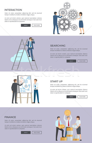 Interaction and Searching, Web Vector Illustration Stock photo © robuart