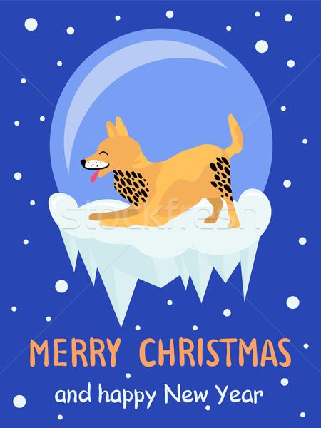Merry Christmas and Happy New Year Akita Congrats Stock photo © robuart