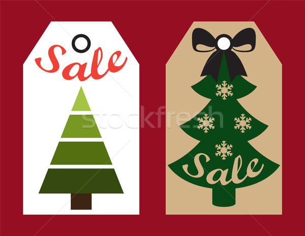Sale New Year Labels Set on Vector Illustration Stock photo © robuart