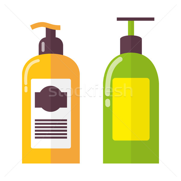 Two Bright Colorful Bottles Vector Illustration Stock photo © robuart