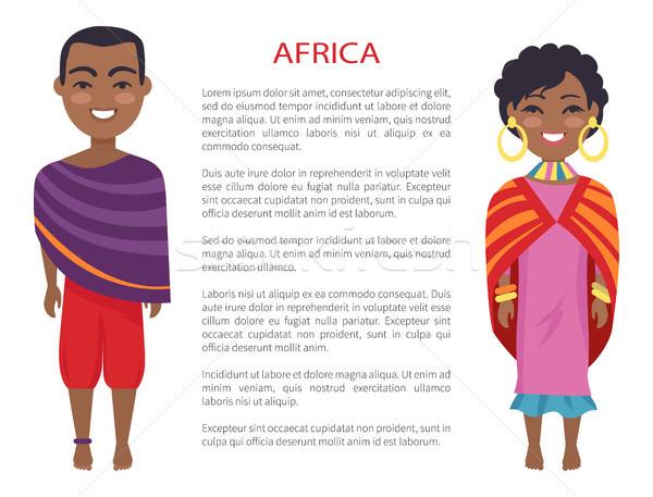 Африка люди Таможня Традиции человека женщину Сток-фото © robuart