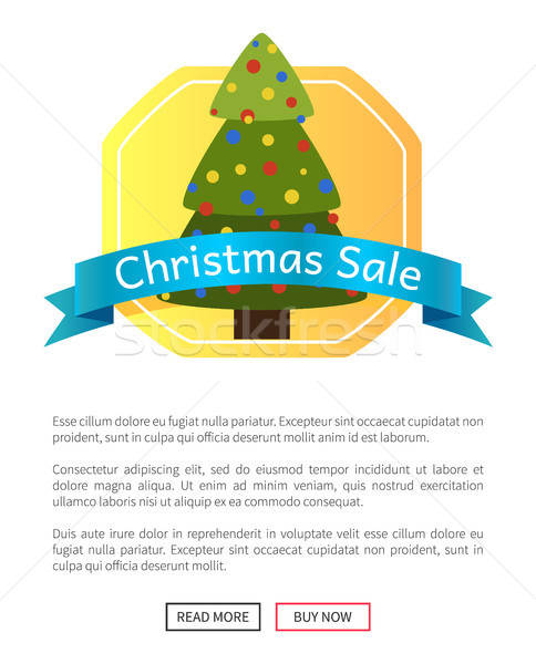 Christmas Sale Picture with Pretty New Year Tree Stock photo © robuart