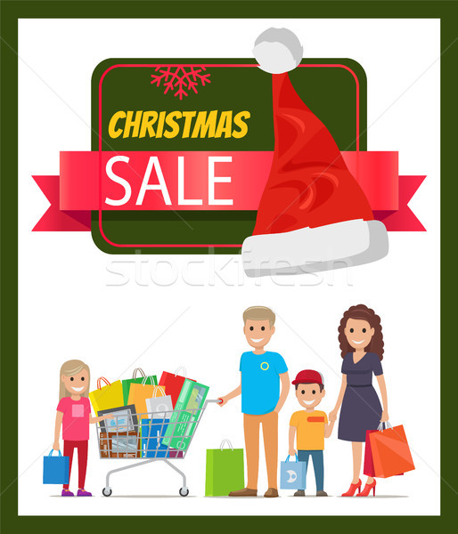 Natal venda promo bandeira alegre filha Foto stock © robuart