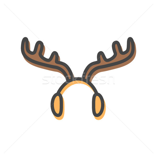 Earmuffs in Form of Horns Vector Illustration Stock photo © robuart