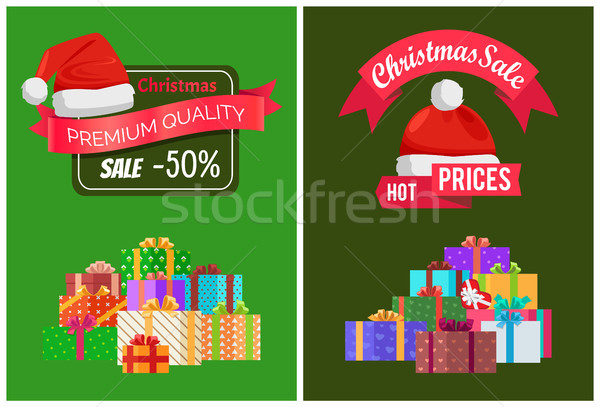Karácsony vásár termékek prémium minőség hirdetés Stock fotó © robuart