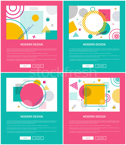 Modern Design Collection on Vector Illustration Stock photo © robuart