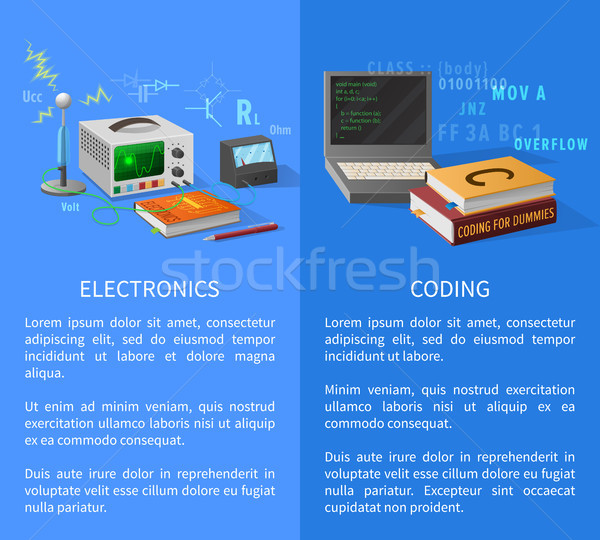 Elektronika kódolás leckék promóciós poszter különleges Stock fotó © robuart