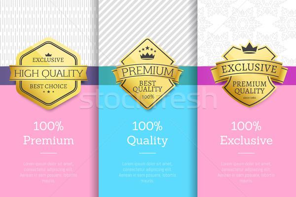 Prémium minőség exkluzív legjobb választás gyűjtemény plakátok Stock fotó © robuart