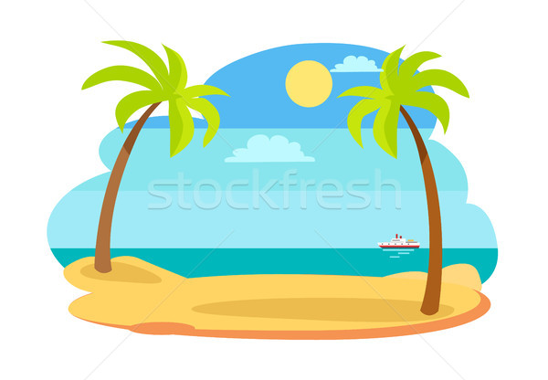 Sun and Recreation on Beach Vector Illustration Stock photo © robuart