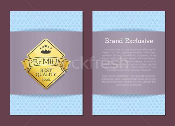 Brand Exclusive Best Quality Golden Label Premium Stock photo © robuart