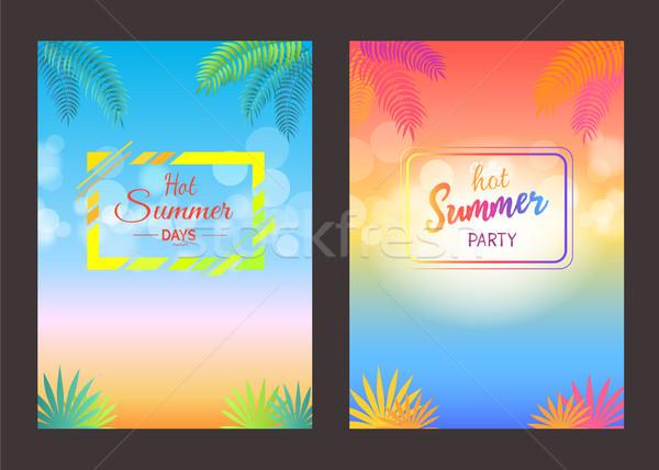 Hola día de verano anunciante texto verano Foto stock © robuart