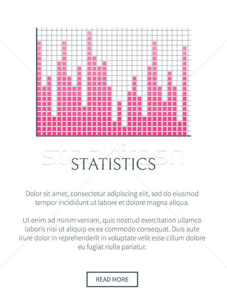 Statistics Internet Page Text Vector Illustration Stock photo © robuart