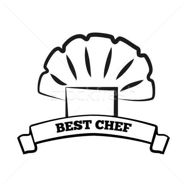 Best Chef Icon of Cook Hat Vector Illustration Stock photo © robuart