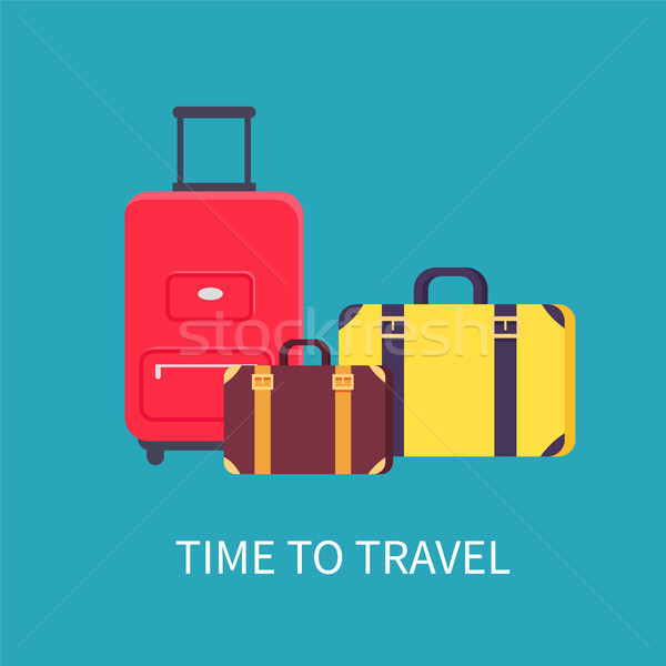 Time to Travel Poster Headline Vector Illustration Stock photo © robuart