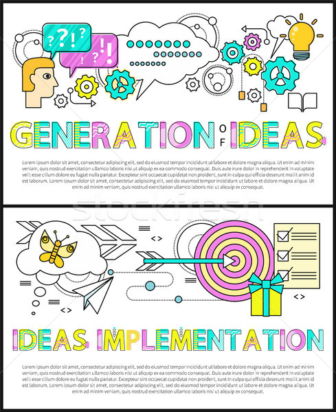 Generation of Ideas Poster Vector Illustration Stock photo © robuart