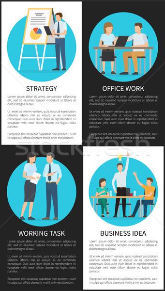 事務 ビジネス アイデア 垂直 ポスター 良い ストックフォト © robuart