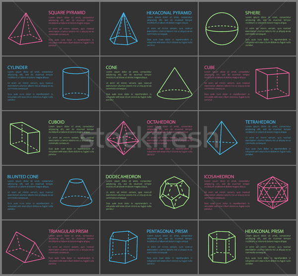 Shapes Collection and Text Vector Illustration Stock photo © robuart
