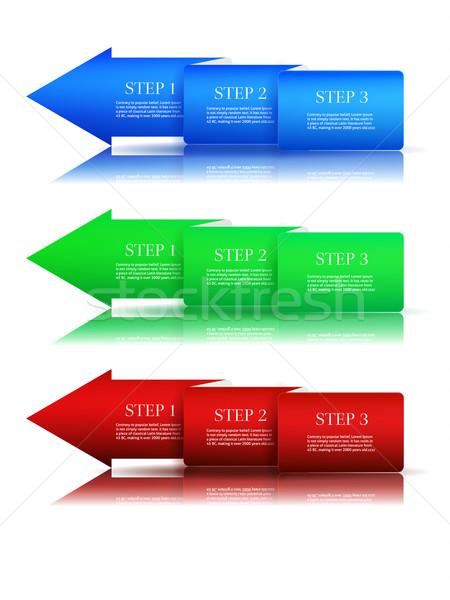 Next step arrow boxes Stock photo © robuart