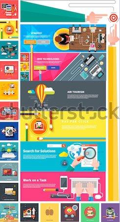Seo tıklayın sosyal medya web tasarım Stok fotoğraf © robuart