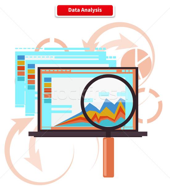 Concept Analysis and Data Analytics Stock photo © robuart