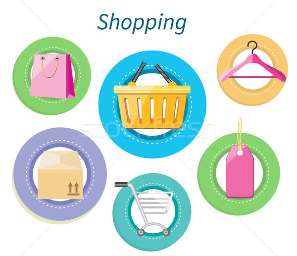 Shopping Consumerism Flat Design Style Stock photo © robuart