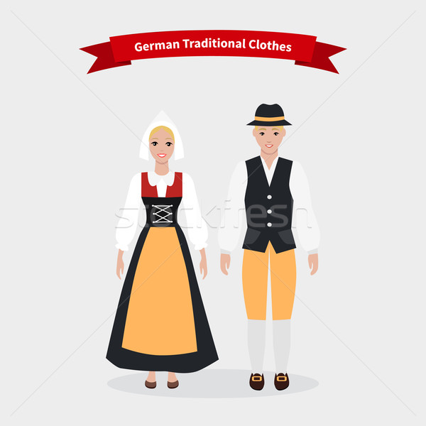 German Traditional Clothes People Stock photo © robuart