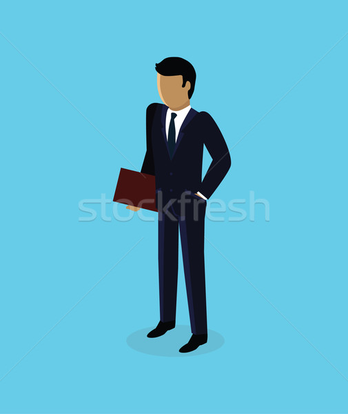 Isometric 3d Businessman Icon Design Stock photo © robuart