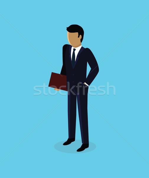 Stock photo: Isometric 3d Businessman Icon Design