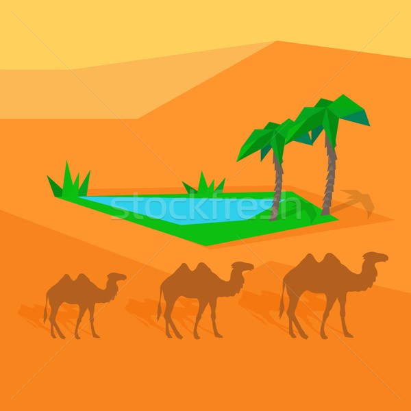 Transport chameau partout dans le monde entrepôt Afrique Photo stock © robuart