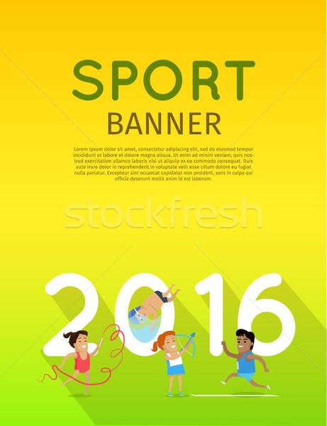 Torna atlétika búvárkodik íjászat sablon sport Stock fotó © robuart