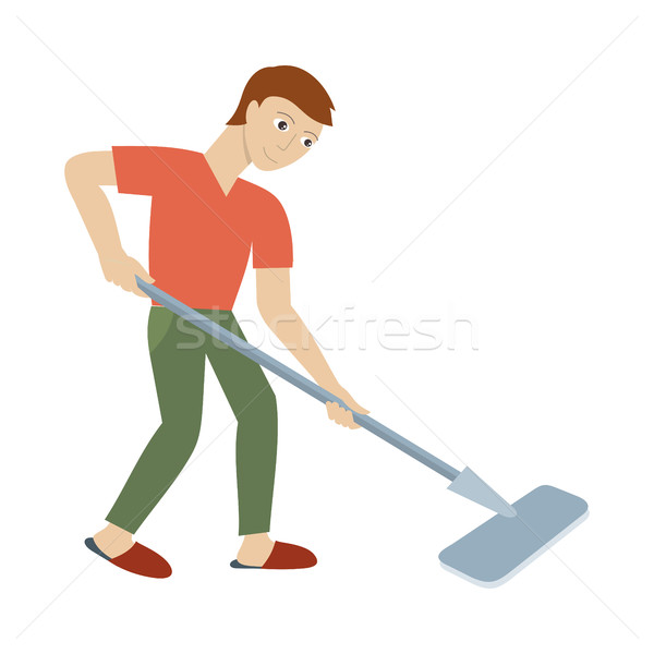 Cleaning Service Concept Vector in Flat Design Stock photo © robuart