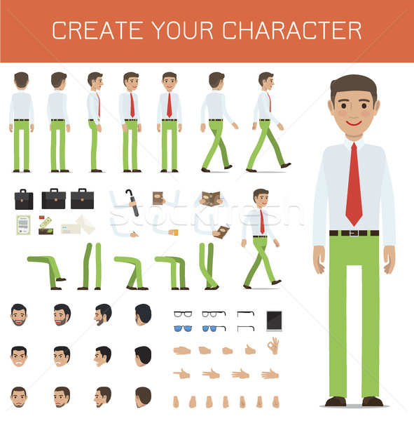 Create Your Character Businessman Collection. Stock photo © robuart