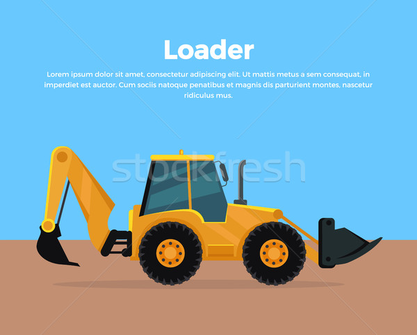 Loader Banner Flat Design Vector Illustration Stock photo © robuart