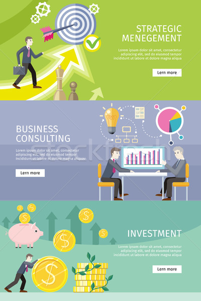 Set of Conceptual Business Vector Web Banners Stock photo © robuart