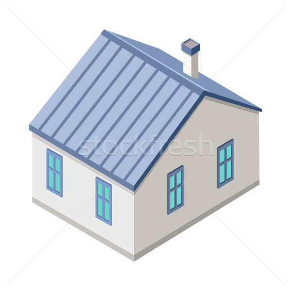 Stock photo: Isometric City Building Vector. Isometry