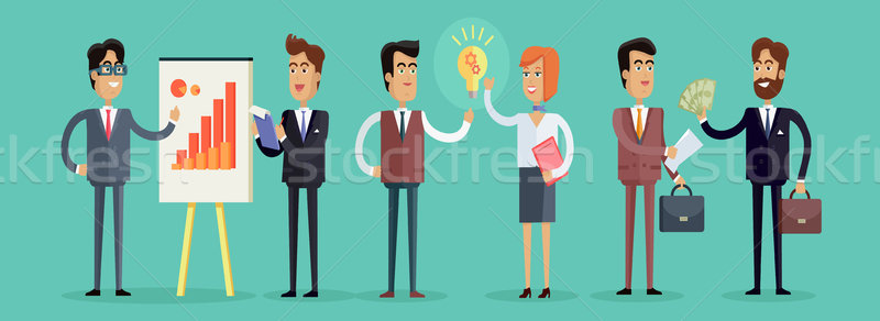 Business People Concept Vector Illustration in Flat Design Stock photo © robuart