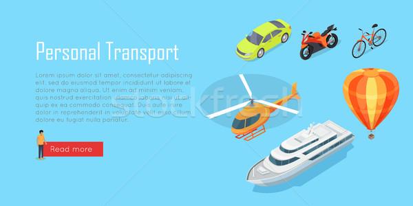 Vervoer openbaar vervoer vector vliegtuig bus Stockfoto © robuart